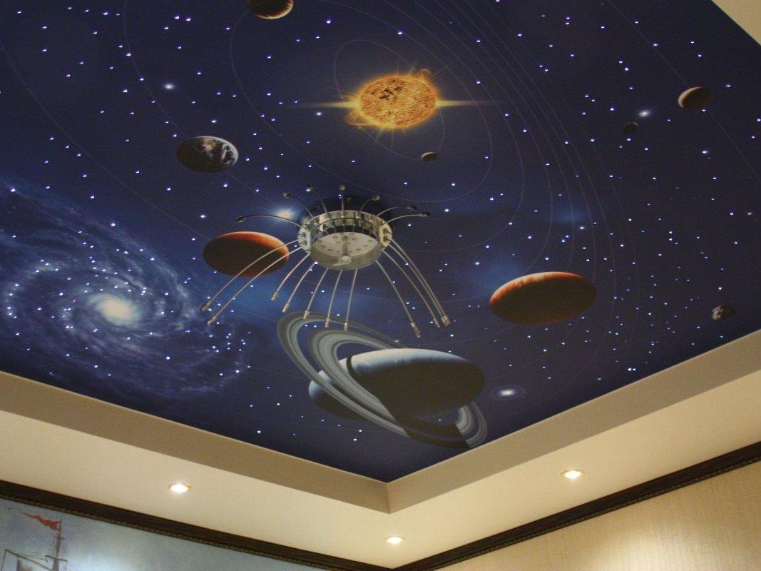 Имитация ночного звёздного неба в вашем интерьере